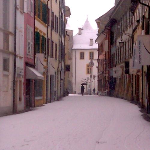 rue enneigée