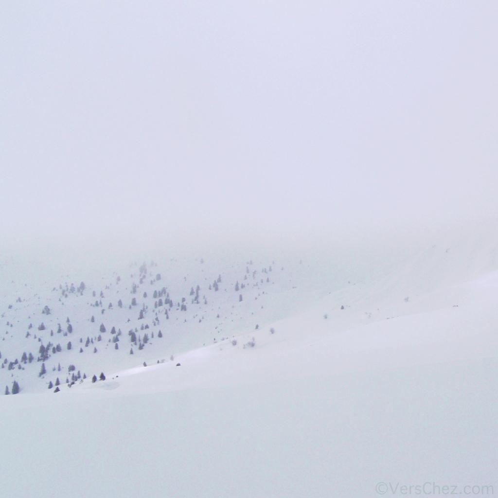 haiku neige brouillard